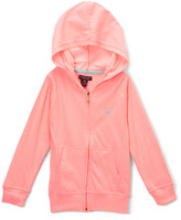 U.S. Polo Assn. Neon Light Pink Zip-Up Hoodie - Toddler & Girls