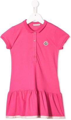 Moncler Enfant Ruffled Hem Dress
