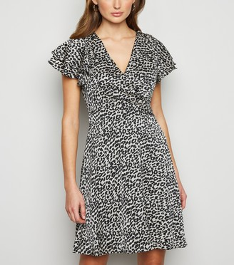 New Look Blue Vanilla Leopard Print Dress