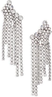 Isabel Marant A Wild Shore Crystal Chain Drop Earrings