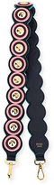 Fendi Strap You Circle Studded Shoulder Strap for Handbag, Navy/Pink