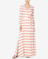Catherine Malandrino Catherine Striped Faux-Wrap Maxi Dress