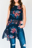 Dex Floral Side-Slit Tunic