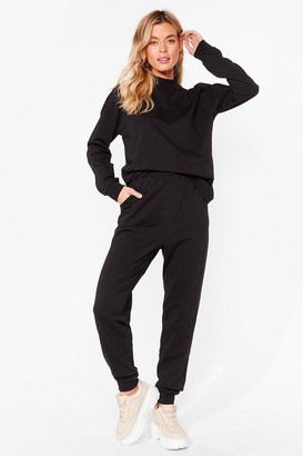 Nasty Gal Womens Hold It Together Sweat and Jogger Set - Black - 6
