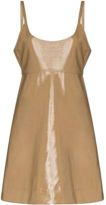 Ganni Patent-Leather Mini Dress
