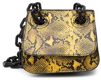 Studio 33 Woke OG Shoulder Flap Snake Embossed Bag
