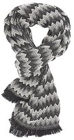 Charlotte Russe Chevron Fringed Oblong Scarf