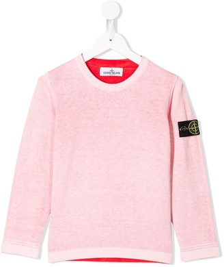 Stone Island Junior Logo Patch Top