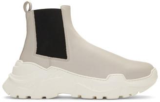 Tibi SSENSE Exclusive Grey Diego Glove Boots