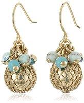 "Carolee The Blue Line"" The Blue Line Mini Cluster Pierced Drop Earrings"