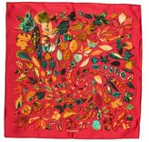 Hermes Tourbillons Silk Pocket Square