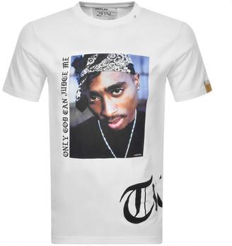 Replay Tupac Tribute Logo T Shirt White