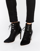 Call it SPRING Annebella Lace up Point Heeled Ankle Boots
