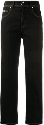 Versace High Rise Straight-Leg Jeans