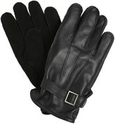 The Kooples Suede & Smooth Leather Gloves