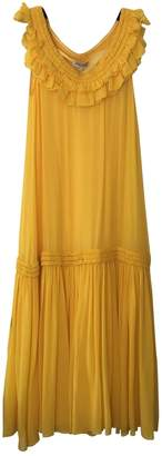 Opening Ceremony Yellow Silk Dress for Women