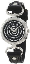 Versus By Versace Women's 3C68100000 Versus V Black Crystal Dial Genuine Leather Watch