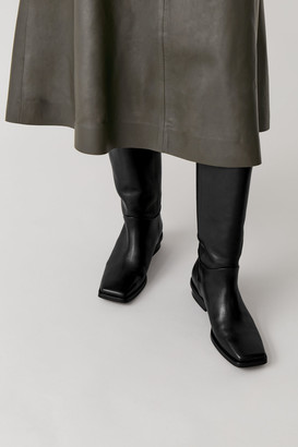 Cos Square Toe Leather Boots