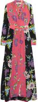 Diane von Furstenberg Floral-print Silk Crepe De Chine Maxi Dress - Pink