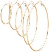 Charlotte Russe Skinny Hoop Earrings - 5 Pack