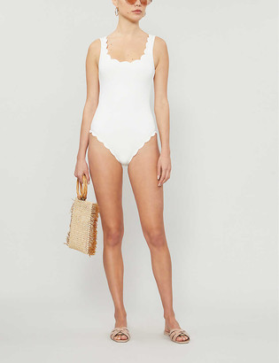 Marysia Swim Palm Springs scallop-trimmed swimsuit