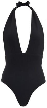 Sara Cristina Thalassa Plunge-neck Swimsuit - Black
