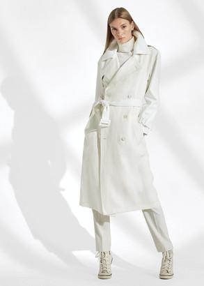 Ralph Lauren Hays Leather-Trim Trench Coat