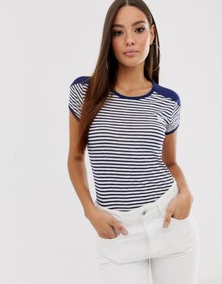 G Star G-Star Ringer retro t-shirt with stripe