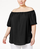 MICHAEL Michael Kors Size Off-The-Shoulder Peasant Top