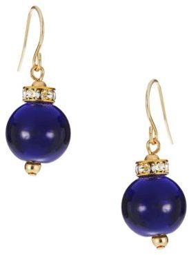 Lauren Ralph Lauren Pave Embedded Bead Earrings