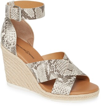 Treasure & Bond Poppy Snake Embossed Espadrille Wedge Sandal