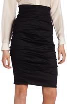 Nicole Miller Women's Sandy Cotton Metal Skirt