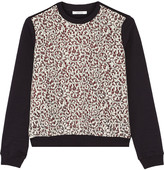 Carven Lace-paneled jersey top