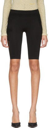 Unravel Black Knit Seamless Cycling Shorts