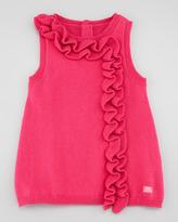 Lili Gaufrette Ribbon Sleeveless Dress, Azalee/Red, 3-18 Months