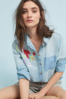 Maeve Boise Embroidered Chambray Buttondown