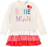 Petit Lem White 'Bohemian' Tiered Dress - Toddler & Girls