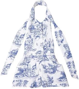 Jeremy Scott White Cotton Jumpsuits
