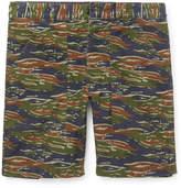 J.Crew Slim-fit Camouflage-print Stretch-cotton Cargo Shorts - Green