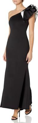 Aidan Mattox Aidan Women's Oneshoulder Ruffle Gown