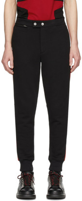 Alexander McQueen Black and Red Jogger Lounge Pants