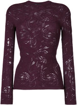 Versace lace Baroque knit top