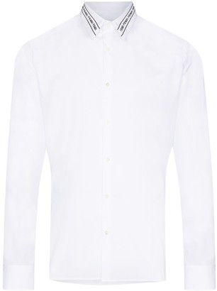 Fendi Embroidered-Logo Buttoned Shirt