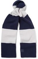 Acne Studios Nader Striped Wool Scarf - Storm blue