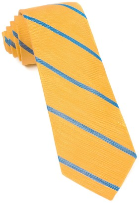 Tie Bar Spring Break Stripe Yellow Gold Tie