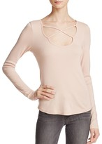 Splendid Crisscross Long Sleeve Top
