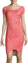 Bisou Bisou Short-Sleeve Lace Sheath Dress
