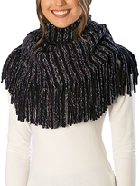 Pure Style Girlfriends Navy Knit Fringe Snood