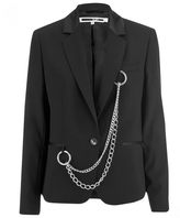 McQ by Alexander McQueen Women's Chain Blazer Black