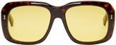 Gucci Tortoiseshell Bold Rectangular Sunglasses
